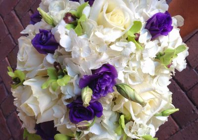 """Angelina Green & Purple"" bouquet"