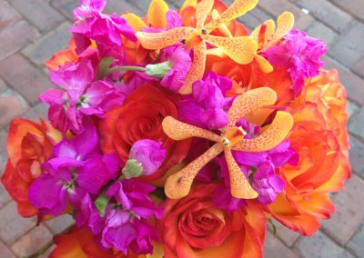 """Anna - Orange & Pink"" bouquet"