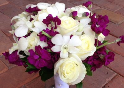 """Anna - Purple and White"" bouquet"
