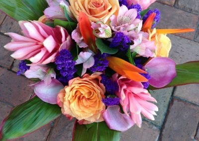 """Orange & Pink Tropical"" bouquet"