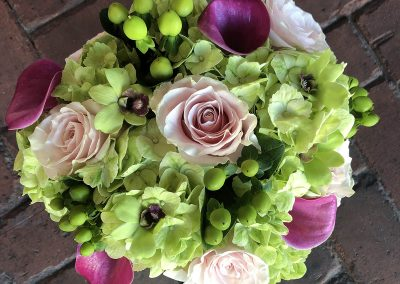 """Pink and Green"" bouquet"