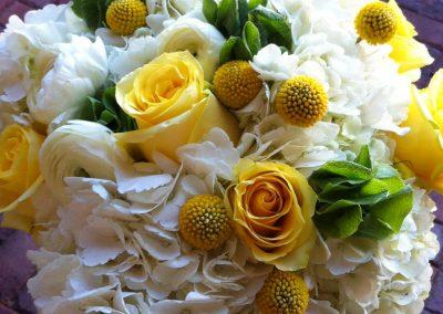 Beautiful bouquet with Hydrangea flowers