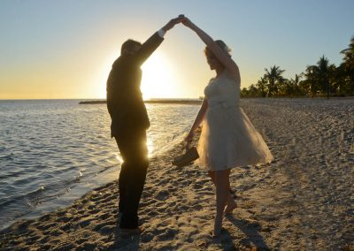 Sunset wedding Key West Beach